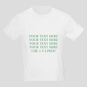 Customized Personalized Green Kids Light T-Shirt