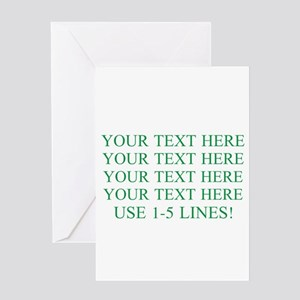 Customized Personalized Green Greeting Card