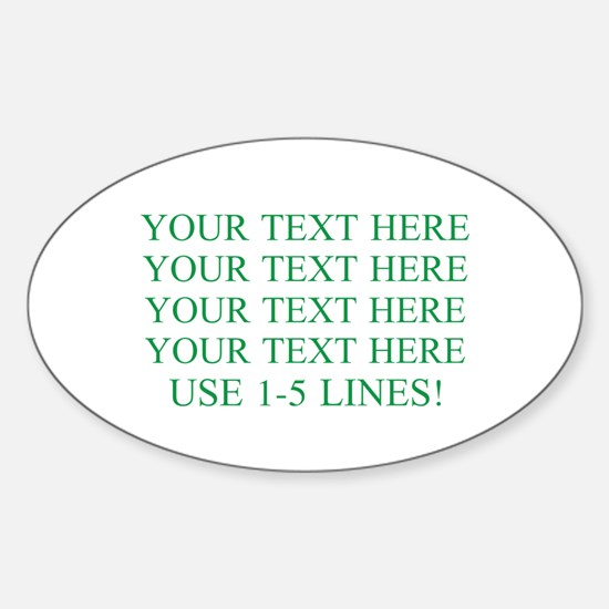 Customized Personalized Green Sticker (Oval)