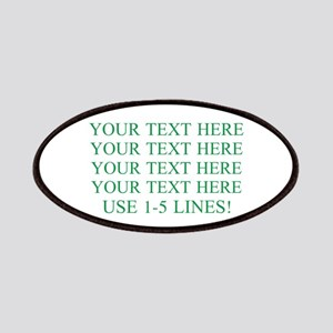 Customized Personalized Green Patch