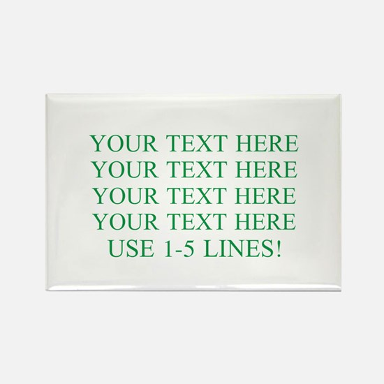 Customized Personalized Green Rectangle Magnet