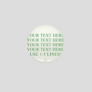 Customized Personalized Green Mini Button