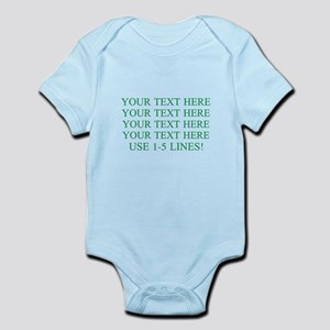 Customized Personalized Green Infant Bodysuit