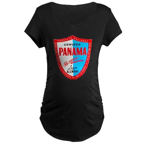 Panama Beer Label 1 Maternity Dark T-Shirt
