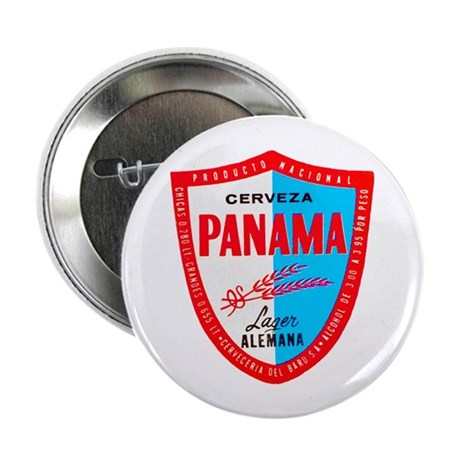"Panama Beer Label 1 2.25"" Button (10 pack)"