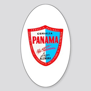 Panama Beer Label 1 Sticker (Oval)