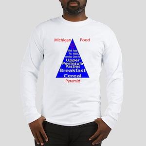 Michigan Food Pyramid Long Sleeve T-Shirt