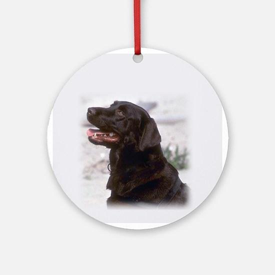Black Lab Ornament (Round)
