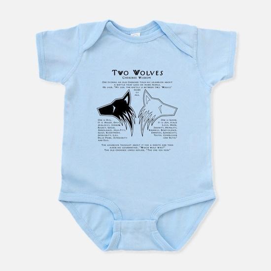 Two Wolves Infant Bodysuit