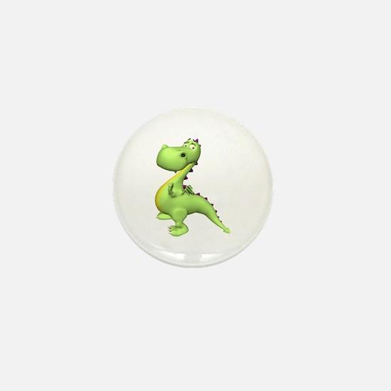 Puff The Magic Dragon - Green Mini Button