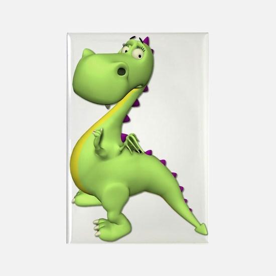 Puff The Magic Dragon - Green Rectangle Magnet (10