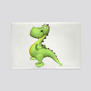 Puff The Magic Dragon - Green Rectangle Magnet