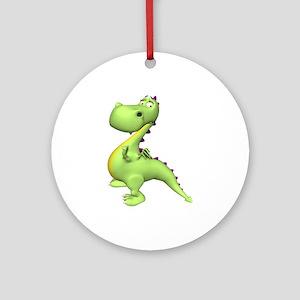 Puff The Magic Dragon - Green Ornament (Round)