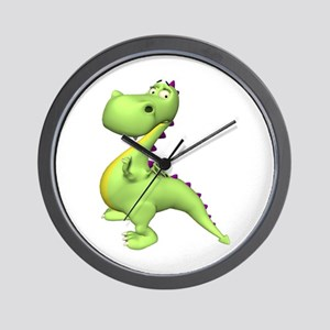 Puff The Magic Dragon - Green Wall Clock