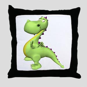 Puff The Magic Dragon - Green Throw Pillow