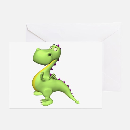 Puff The Magic Dragon - Green Greeting Cards (Pack
