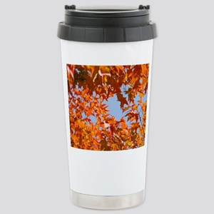 Autumn Leaves Fall Stainless Steel Travel Mug