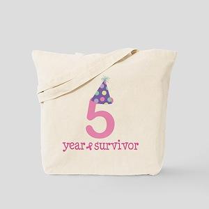 5 Year Breast Cancer Survivor Tote Bag