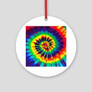 Bright Tie-Dye Ornament (Round)