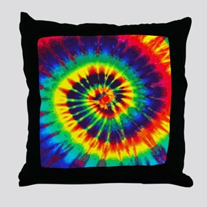 Bright Tie-Dye Throw Pillow