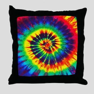 Bright Tie-Dye Throw Pillow