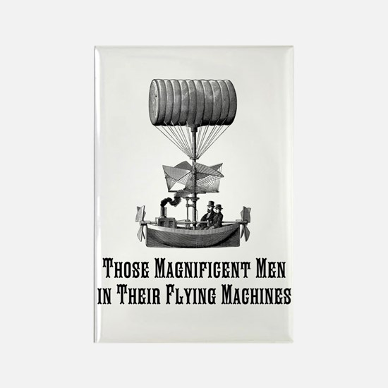 Flying Machine Rectangle Magnet