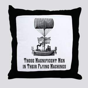 Flying Machine Throw Pillow