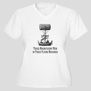 Flying Machine Women's Plus Size V-Neck T-Shirt