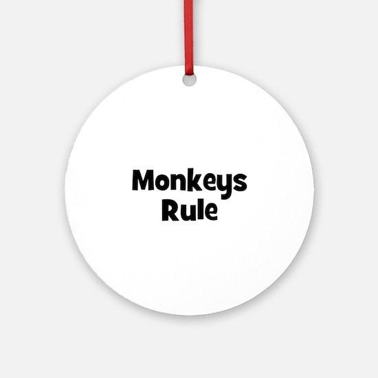 Monkeys Rule Ornament (Round)