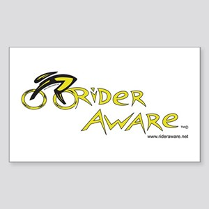rider aware Sticker (Rectangle)