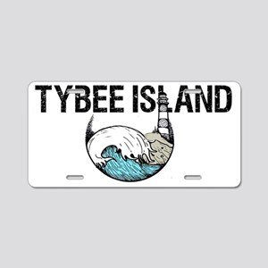 Tybee Island, Ga Aluminum License Plate
