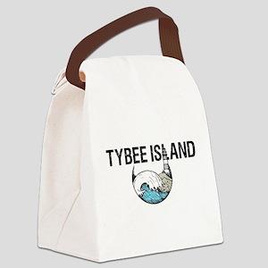 TYBEE ISLAND, GA Canvas Lunch Bag