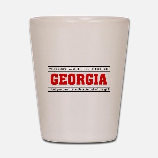 'Girl From Georgia' Shot Glass