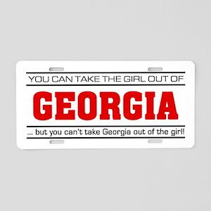 'Girl From Georgia' Aluminum License Plate