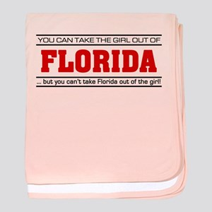 'Girl From Florida' baby blanket