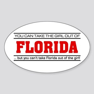 'Girl From Florida' Sticker (Oval)