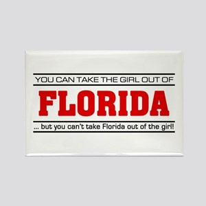 'Girl From Florida' Rectangle Magnet