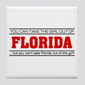 'Girl From Florida' Tile Coaster