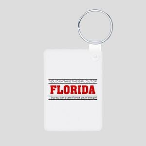 'Girl From Florida' Aluminum Photo Keychain