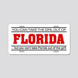 'Girl From Florida' Aluminum License Plate