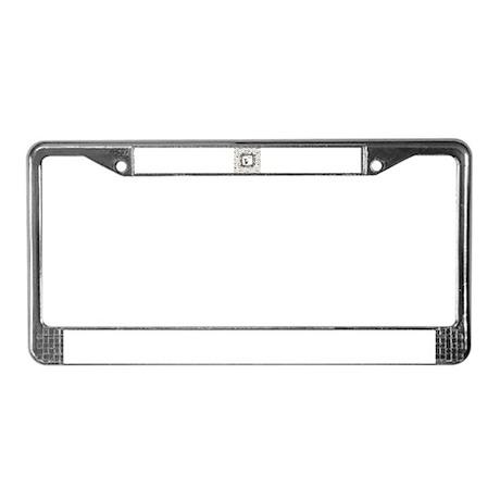 Beans Kostka License Plate Frame