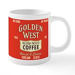 Retro Golden West Coffee 20 Oz Ceramic Mega Mugs
