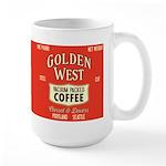 Retro Golden West Coffee 15 oz Ceramic Large Mug