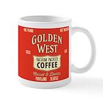 Retro Golden West Coffee 11 oz Ceramic Mug