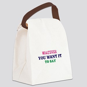 Personalized Customized (Blue) Canvas Lunch Bag