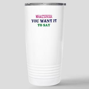 Personalized Cust 16 oz Stainless Steel Travel Mug