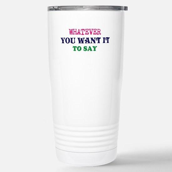 Personalized Cust Travel Mug