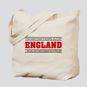 'Girl From England' Tote Bag