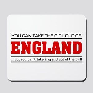 'Girl From England' Mousepad