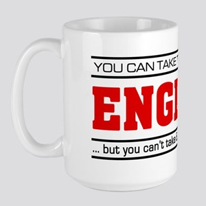 'Girl From England' Large Mug